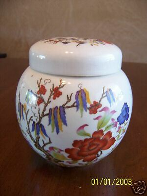 Vintage English Sadler Pottery Ginger Jar Floral Motif