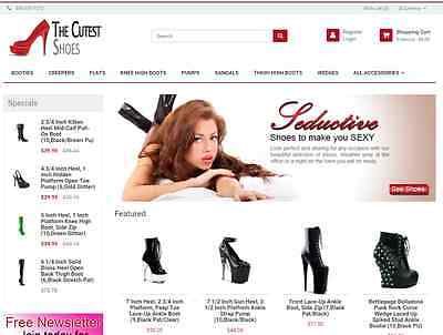 Shoe products turnkey website for sale - Established Domain & Website