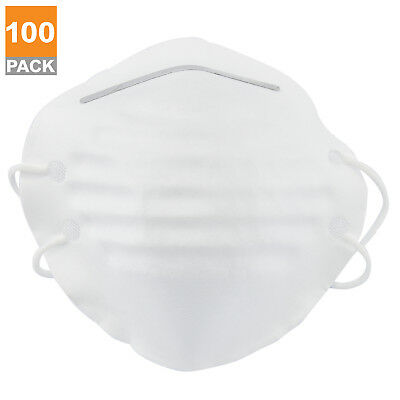100pc Dust Mask w/ Double Straps | Breathing Air Filter Painters Fiberglass Work