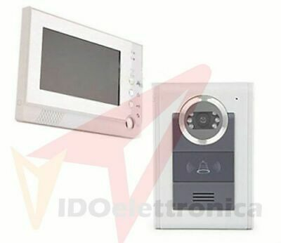 Videocitofono 1 Monitor Kit Familiare Condominiale Telecamera Ir 7 Video