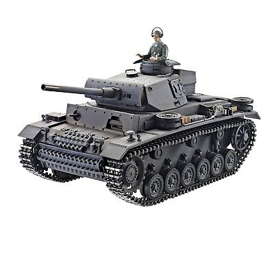 1:16 Taigen RC Panzer III Battle Tank Airsoft 2.4GHz Desert Metal Edition New