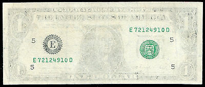 "1969 $1 One Dollar Frn Federal Reserve Note ""insufficient Inking Error"""