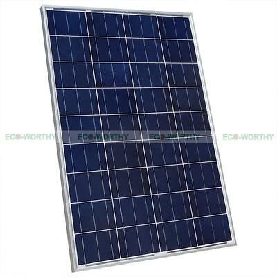 100W Watt 100Watts Photovoltaic Poly Solar Panel 12V for RV Boat Off Grid System