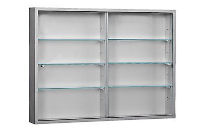 Living Room Large 2 Door Wall Mounted Glass Display Cabinet