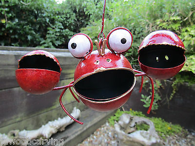 Fair Trade Hand Carved Made Metal Art Hanging Crab Carving Sculpture Mobile