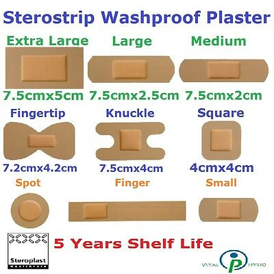 Steroplast Sterostrip Plaster Waterproof First Aid Dressing Cuts Wound Band Tape