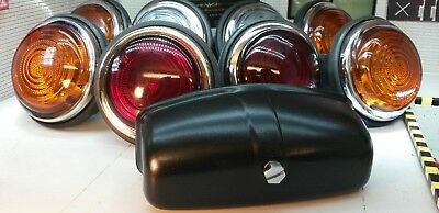 Land Rover Series 2 2a Lucas L488 Glass Lens External & Number Plate Lights Set