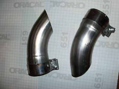 Pair of exhaust tips with bandit clamps