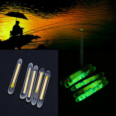 50Pcs Fishing Fluorescent Lightstick Light Clip On Dark Glow Stick Set