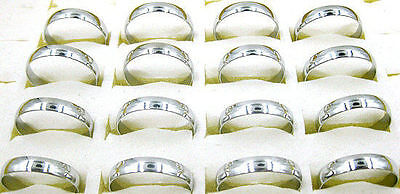 Wholesale Lots Jewelry resale 20pcs Arc Silver Stainless Steel Faver Rings J20