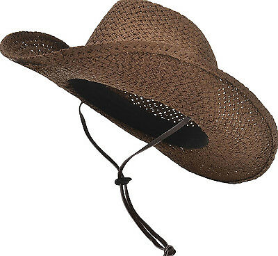 Men   Women s Classic Woven Straw Cowboy Ranch Hat with PU Leather Band e848d02100aa