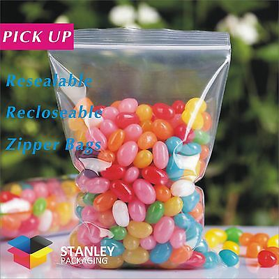 Pick Up -Ziplock Bags Clear Resealable Plastic Bags 50 Micron
