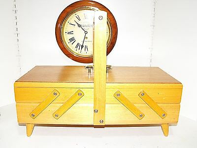 Vintage Retro Timber Cantilever Sewing Box, Craft, Scrapbooking Storage