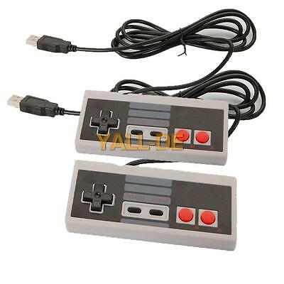 2X Retro Classic USB-Game-Controller Joypad Gamepad für Nintendo NES Windows-MAC