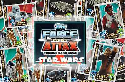 Topps Star Wars The Force Awakens Force Attax Limited Edition & Foil card sets