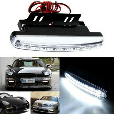 2x 8LED Car Fog Lamp 12V Daytime Driving Running Light DRL Waterproof DC White t