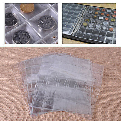 10 Page 30 Pockets Plastic Coin Collection Storage Penny Holder Money Album Case