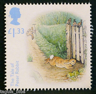 """Beatrix Potter """"The Tale of Peter Rabbit"""" illustrated on 2016 stamp - U/M"""