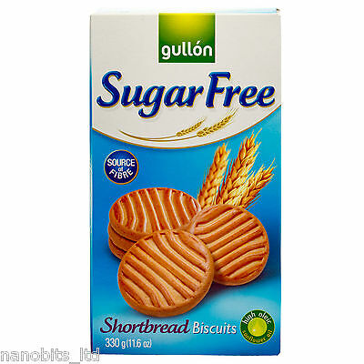10x Gullon Sugar Free Oven Baked Shortbread Biscuits 330g
