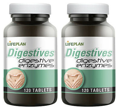 Lifeplan Digestive Enzymes, 2 x 120 tablets - TWIN PACK (240 tablets)