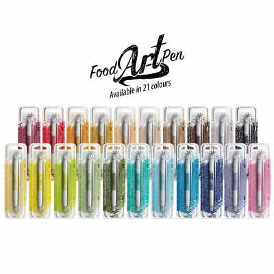 Rainbow Dust Edible Double Ended Sided Food Colouring Pens for Cake Decorating