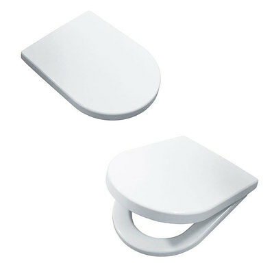 Luxury D Shape Heavy Duty Soft Close White Toilet Seat with TOP FIXING Hinges