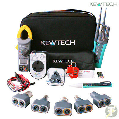 Kewtech KT1780 KIT32, Lightmate, 203 Clamp Meter, PAT Adaptor, R2 Socket Tester