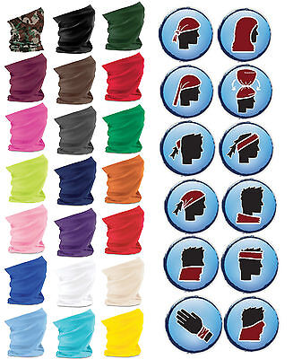 Beechfield Morf Multipurpose Headwear Hat Scarf Snood Anti Microbial 21 Colours