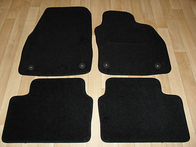 Vauxhall Astra H MK5 2004-09 Tailored Car Mat Set Black 4 piece With Clips