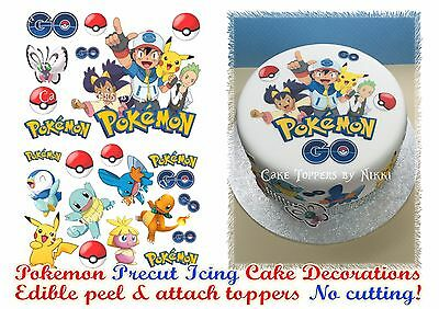 Edible Icing POKEMON GO Cake Decorations *PRECUT* No Cutting EASY PEEL