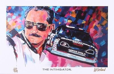 """Dale Earnhardt Sr. """"The Intimidator"""" Limited 11x17 Signed Lithograph With COA"""