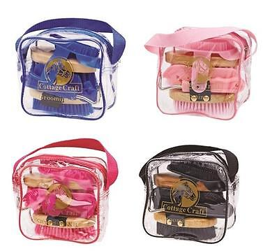 Cottage Craft Kids Childrens Junior Grooming Kit With Bag, Pony horse