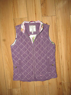 Joules, violet quilted gilet bodywarmer, 6-7 years