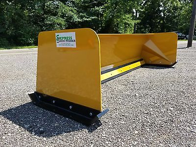 7' Low Pro snow pusher box FREE SHIPPING skid steer Bobcat Case Caterpillar