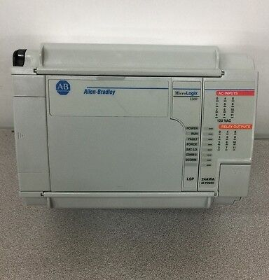 USED ALLEN-BRADLEY MicroLogix 1500 CONTROLLER 1764-24AWA WITH 1764-LSP SERIES A