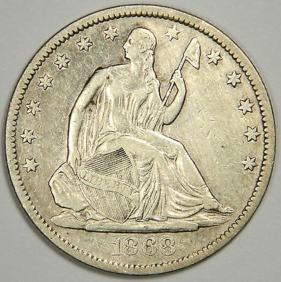 1868-S Seated Half Dollar - Nice Sharp Au About Uncirculated!