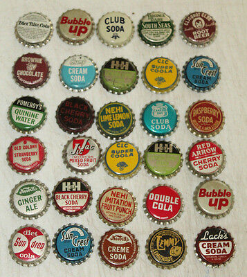 Vintage Lot Of 30  Cork Lined Soda Bottle Cap #2