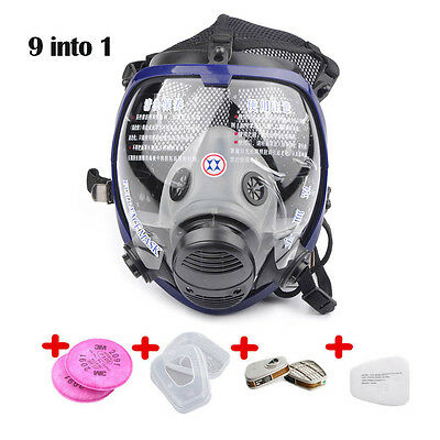 New Suit 9in1 Painting Spraying For 6800 Gas Mask Full Face Facepiece Respirator