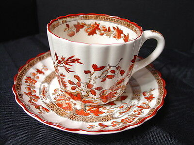 Spode Cup & Saucer Indian Tree Rust Old Marks English Fine China