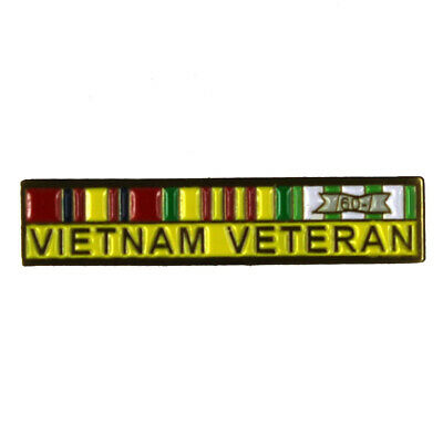 "Vietnam Veteran Ribbon ~1"" Inch Military Lapel Pin 77048"