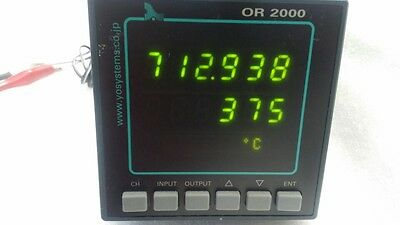 Y.O.SYSTEMS OR 2000 OR2000 SW/AV 2ch RESISTANCE TESTER POWER ON TESTED
