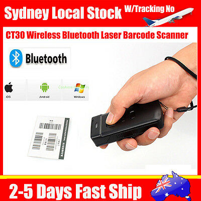 CT30 Wireless Bluetooth Laser Barcode Scanner For iPhone 6s Android Sumsung Wins