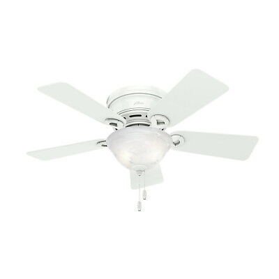 "Hunter 42"" Conroy Snow White Ceiling Fan w/Light 51022 new"