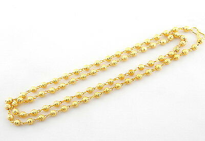 """Bollywood indian 22k Gold Plated Plain Ethnic Jewelry Necklace Chain Mala 24"""""""