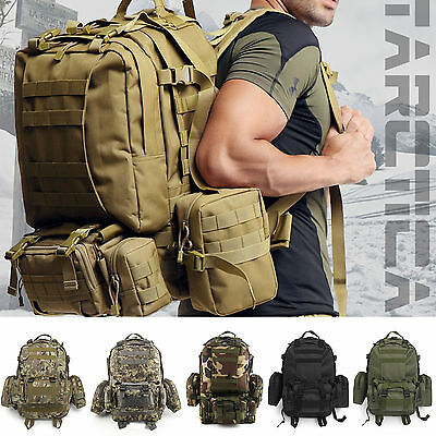 50L Sport Outdoor tactique militaire Rucksacks Backpack Camping randonnée Sac