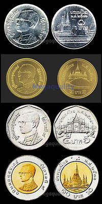 Set Thai Coin 1,2,5,10 Baht New Condition Free Shipping