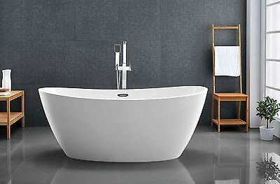 Bathroom Acrylic Free Standing Bath Tub 1600 x 800 x 640 - FREESTANDING
