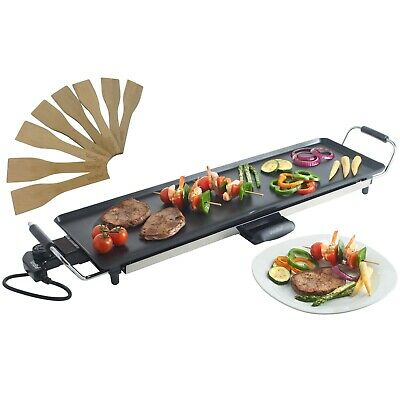 VonShef Electric XL Teppanyaki Style Barbecue Table Grill Griddle - 70x23cm