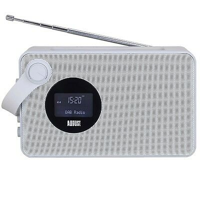 August MB415 - Portable DAB Clock Radio with NFC Bluetooth Speaker - Wireless...