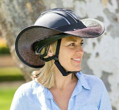 "Horse Riding Helmet Brim Visor Shade  ""new "" One Size Fits  All Black"